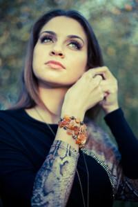 Girl with a bracelet